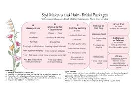 bridal hair prices price list 201604 wo quotes