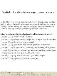 Achievements In Resume Examples by Top8clientrelationshipmanagerresumesamples 150331212602 Conversion Gate01 Thumbnail 4 Jpg Cb U003d1427855207