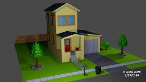 basic house basic house made in blender 3d