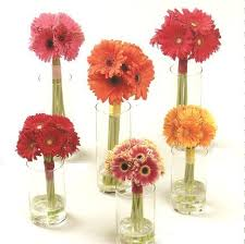 Ideas For Gerbera Flowers Simple Centerpieces Would Be Neat For The Bridesmaids To Put