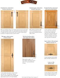 Kitchen Cabinet Face Frame Dimensions by Cabinet Door Hardware Placement Guidelines Taylorcraft Cabinet
