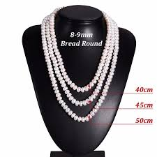 round freshwater pearl necklace images White natural freshwater pearl necklace for women 8 9mm necklace jpg