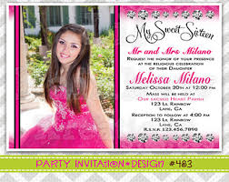 filled quinceanera or sweet 16 invitations