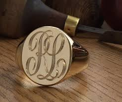 Monogram Signet Rings Hand Engraving Options Hand Engraving Specialists