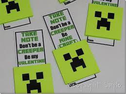 minecraft valentines easy diy minecraft creeper no candy with free