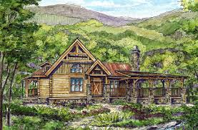 plan 13306ww log home with wrap around deck decking logs and porch