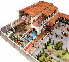 roman domus floor plan reconstruction model for villa romana del casale roman