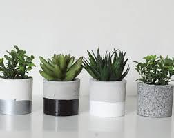 Concrete Planters Concrete Planter Etsy
