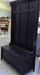 Entryway Wall Coat Rack Cherrystone Furniture Custom Coat Rack With Storage Bench