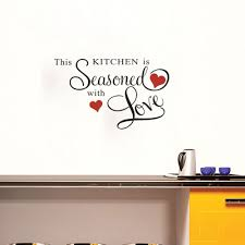 online get cheap beautiful heart quotes aliexpress com alibaba beautiful wall sticker quotes this kitchen is second with love and red hearts modern mural decals