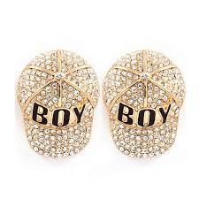 boy earrings gold baseball pave earrings span class money 20 00 span