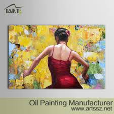 abstract portrait oil painting hand painted oil painting wall
