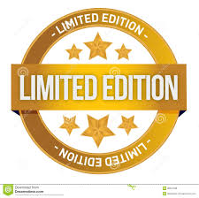 limited edition limited edition written inside the st royalty free stock image