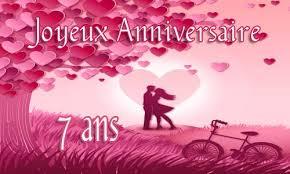7 ans de mariage carte anniversaire mariage 7 ans virtuelle gratuite à imprimer