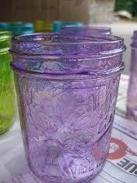 tint jars pour about a 1 4 cup of outdoor mod podge onto a