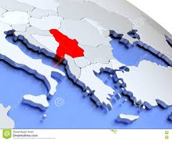 Serbia World Map by Serbia On World Map Stock Illustration Image 78579355