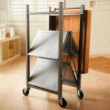 kitchen island casters kitchen room awesome origami folding kitchen cart oasis folding