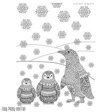 easy peasy coloring page penguins winter coloring page for adults easy peasy and fun