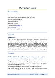 Curriculum Vitae Samples Pdf For Teachers by Mechanical Engineer Curriculum Vitae