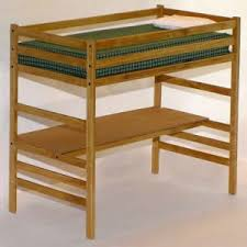 Free Bunk Bed Plans Twin by Children U0027s Twin Loft Bed With Desk Woodworking Plans Ebay