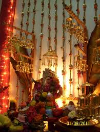 Decorations For Diwali At Home Decoration For Ganpati Indian Customs Pinterest Decoration