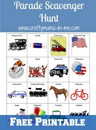 parade scavenger hunt for kids free printable crafty mama in me