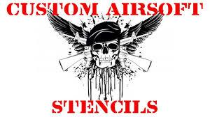 custom made airsoft gun stencils and decals airsoftstencils com