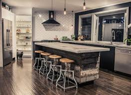 cuisine en palette bois center island range breakfast bar and stools to oneself anews24 org