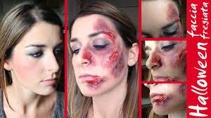 halloween faccia sfregiata scratches skinless wounds makeup