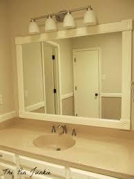 Large Bathroom Mirror Bathrooms Design Framed Bathroom Mirror Large Mirrors How To