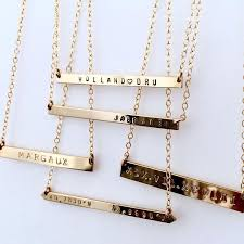 Name Bar Necklace The 25 Best Gold Bar Necklace Ideas On Pinterest Name Necklace