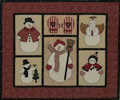 free thanksgiving quilt patterns free snowman applique patterns in this wall quilt the snowmen