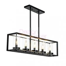 Rectangle Pendant Light Industrial Loft Glass Rectangular Pendant Lamp Free Shipping