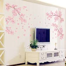 flower wall stickers blossom removable wall decal sticker art diy pink flower wall sticker blossom removable wall decal sticker art diy home decor