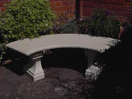 Concrete Curved Bench - curved concrete garden benches outside concrete garden benches