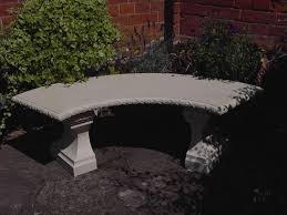 Concrete Table And Benches Concrete Garden Benches With Table Outside Concrete Garden