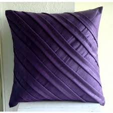 Handmade Purple Pillows Cover 16