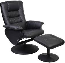 Blue Leather Chair And Ottoman Home Reclining Accent Chair High Back Recliner Chair Leather