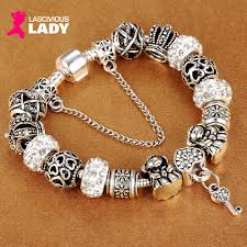 pandora style charm bracelet images Pandora style silver bangle png