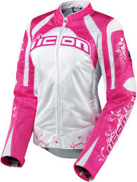 textile motorcycle jacket icon contra speed queen ladies textile motorcycle jacket pink