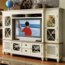 glass door entertainment center 2 door tv console u0026 hutch with 6 shelves by riverside furniture