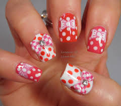 check pattern 3d nail art bows