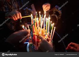 amazing birthday candle blazing amazing birthday candles happy birthday stock photo