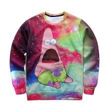 galaxy sweater spongebob faded galaxy sweater 3d print
