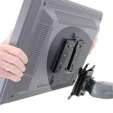 quick release lcd bracket easily swap tvs and monitors ergotron