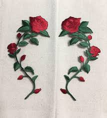 Long Stem Flowers Large Red Rose Open Petals On Long Stem Flowers Facing