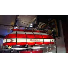 budweiser pool table light with horses budweiser pool table light inch stained glass pool table light