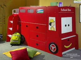Kids Beds With Storage Kids Bus Bed Cabin Mid Sleeper For Boys Or Girls Red Blue Or Pink