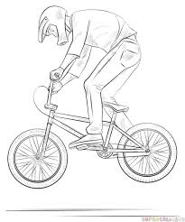 drawn bicycle bmx bike pencil and in color drawn bicycle bmx bike