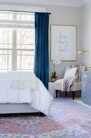 Blue Curtains Bedroom One Room Challenge Master Bedroom Reveal Master Bedroom